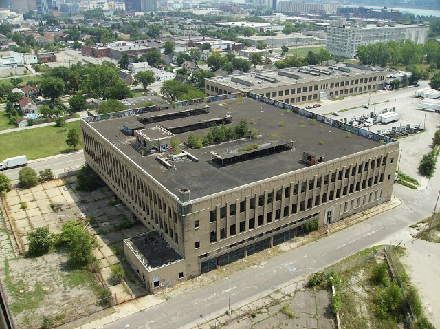 Detroit Public School Book Depository from above