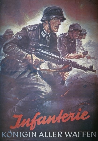 Poster Nazi Infanterie