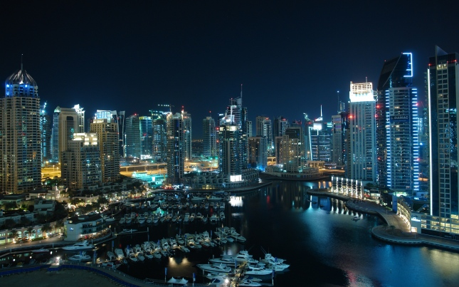 Dubai amazing marina HD wide