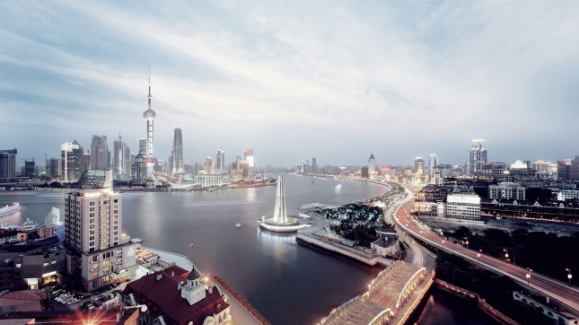 Shanghai skyline HD wide