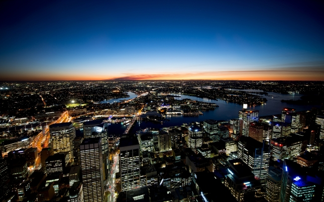 Sydney night lights HD wide