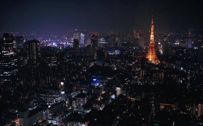 Tokyo by night HD wide