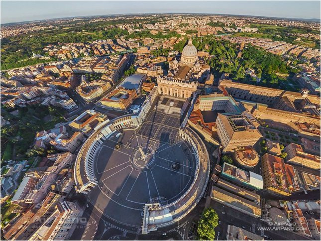 Vaticano from the sky (air)