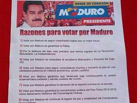 Razones para Votar por Maduro